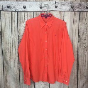 NWOT Ralph Lauren Coral Button Down Shirt Large